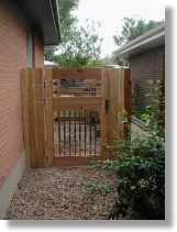Decoritive Cedar Gate. Handyman work. Greeley, CO